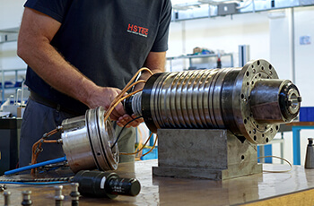Repairs of main spindles, motorized spindles and electrical motors