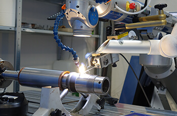 Laser welding for repairing damaged parts